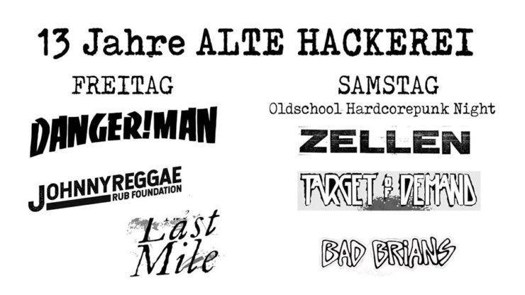 Alte Hackerei - 13th anniversary party